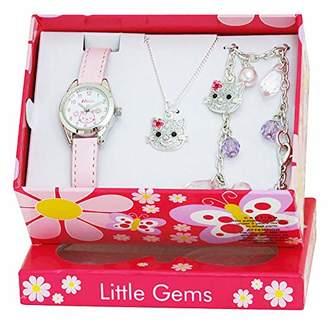 Ravel 'Little Gems' Kitten Watch and Silver Plated Jewellery Set.