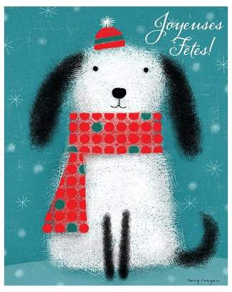 Paper E. Clips Boxed Cards - Dog in Hat and Scarf (in French)