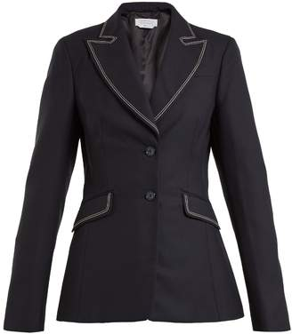 GABRIELA HEARST Serge contrast-stitch single-breasted wool blazer
