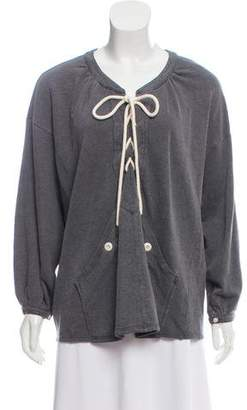 The Great Lace-Up Oversize Sweatshirt