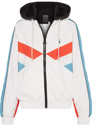 P.E Nation The Ruck Hooded Paneled Shell Jacket - White