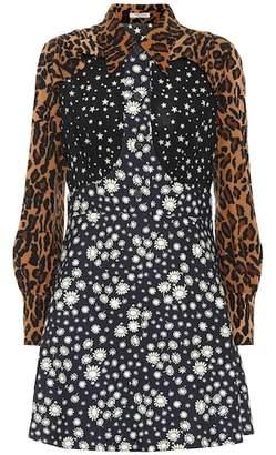 Miu Miu Leopard and floral minidress
