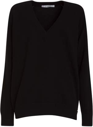 Givenchy V Neck Zipped Sweater In Wool And Cashmere