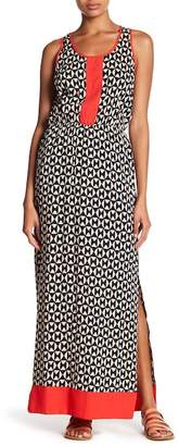THML Colorblock Patterned Maxi Dress