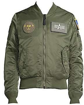 Alpha Industries Men's Slim-Fit Bomber Jacket