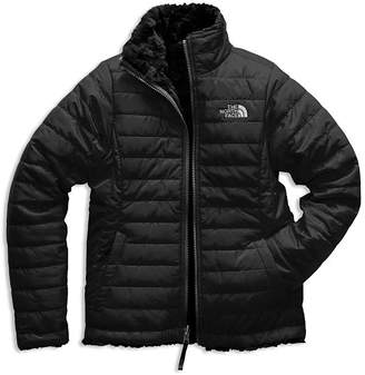 The North Face Girls' Reversible Mossbud Swirl Quilted & Fleece Jacket - Big Kid, Little Kid