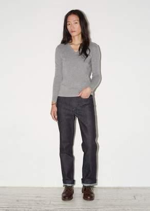 La Garçonne Moderne Portrait V-Neck Sweater Pewter