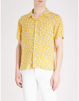 Sandro Floral-pattern regular-fit woven shirt