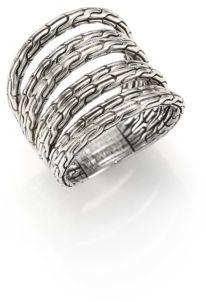 John Hardy Classic Chain Sterling Silver Multi-Band Ring $495 thestylecure.com