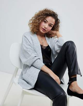 Miss Selfridge longline cardigan in gray