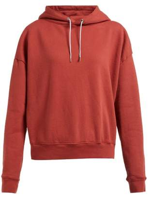 Eckhaus Latta Logo Printed Hooded Cotton Sweatshirt - Womens - Red
