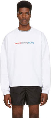Opening Ceremony White Embroidered Logo Cozy Sweatshirt