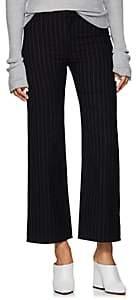 Philosophy di Lorenzo Serafini Women's Pinstriped Cotton-Wool Crop Trousers - Blue