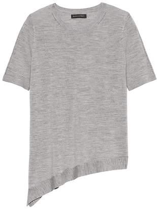 Banana Republic Machine-Washable Merino Asymmetrical-Hem Sweater
