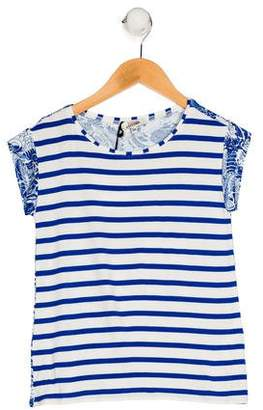 Junior Gaultier Girls' Printed Knit Top w/ Tags