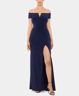 Xscape Evenings X by Off-The-Shoulder Gown