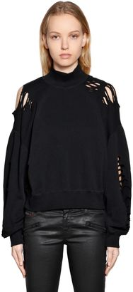 Destroyed Cotton Sweatshirt $189 thestylecure.com