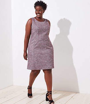 LOFT Plus Boucle Sheath Dress