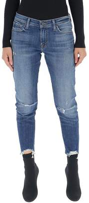J Brand Ripped Cropped Jeans