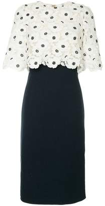 Oscar de la Renta lace pencil dress