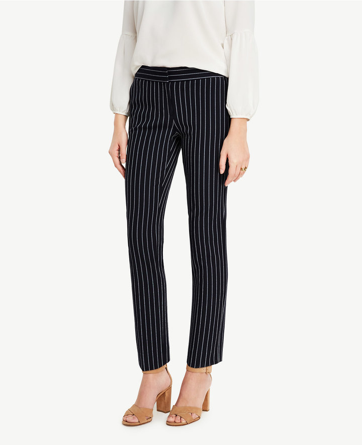 Ann TaylorThe Petite Ankle Pant in Stripes - Kate Fit