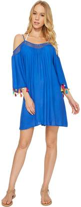 Nanette Lepore Cha Cha Cha Off the Shoulder Dress Cover-Up Women's Clothing