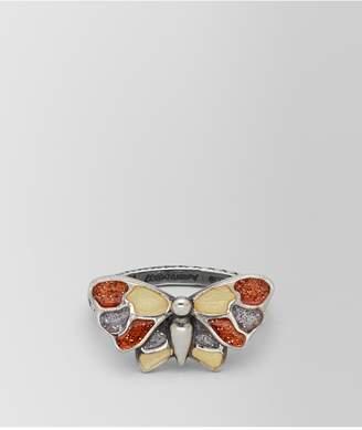 Bottega Veneta Multicolor Antique Silver Butterfly Ring