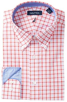 Nautica Plaid Classic Fit Dress Shirt
