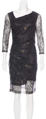 Andrew Marc Knee-Length Lace Dress