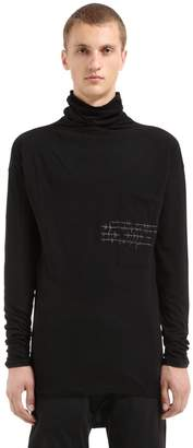 Isabel Benenato Heartbeat Jersey Turtleneck T-Shirt