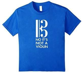 Viola T-shirt - No It's Not A Violin - Alto Clef Gift