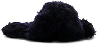 ARIANA BOHLING Criss Cross Fur Slipper