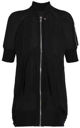 Rick Owens Gathered Silk-georgette Bomber Jacket