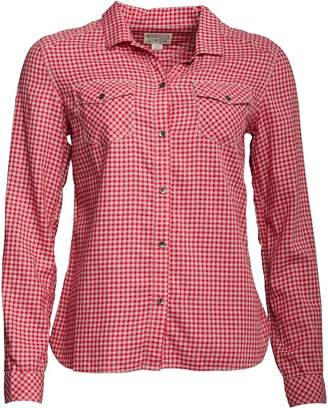 Converse Womens Duofold Checked Slim Fit Long Sleeve Shirt Barberry Multi