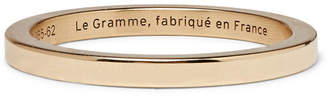 Le Gramme Le 5 Polished 18-Karat Gold Ring - Men - Gold