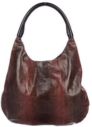Devi Kroell Karung Leather-Trimmed Hobo