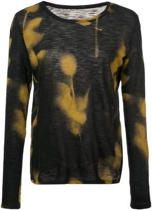 Proenza Schouler Rose Imprint Long Sleeve T-Shirt