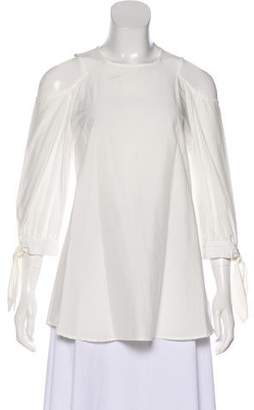 Timo Weiland Long Sleeve Cold-Shoulder Top