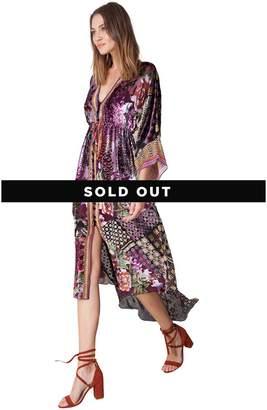 Hale Bob Silvana Patched Silk Burnout Dress