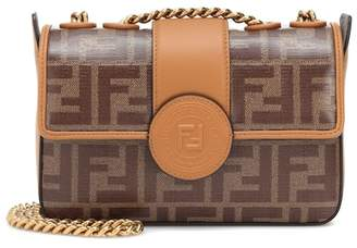 Fendi Double F leather shoulder bag
