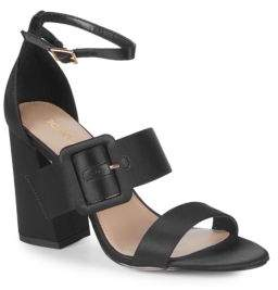 BCBGeneration Raelynn Satin Ankle-Strap Sandals