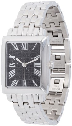 Steel By Design Stainless Steel Square Face w/ Crystals PantherLink Watch