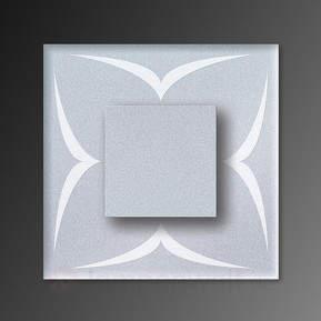 Schwünge-Motiv - LED-Wandleuchte Cristal IP44