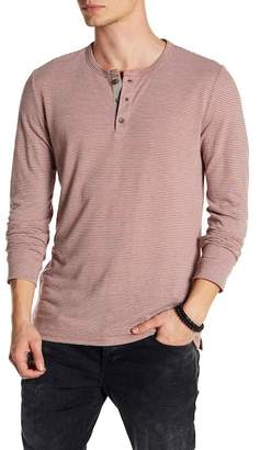 Onia Miles Long Sleeve Stripe Henley Shirt