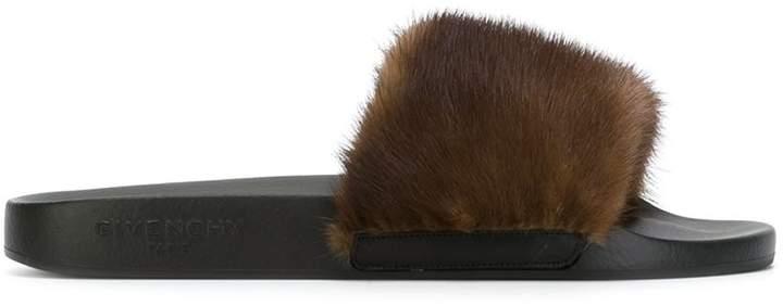 Givenchy mink fur sliders