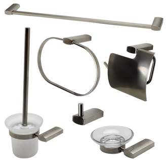 Alfi Brand brand AB9503-BN Brushed Nickel 6 Piece Matching Bathroom Accessory Set