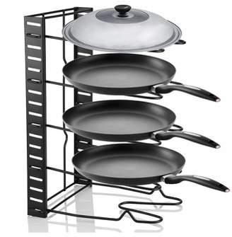 HURRISE Pot Storage Rack,Multi Tiers Pot Frying Pan Lid Storage Rack Organizer Kitchen Cookware Stand Holder