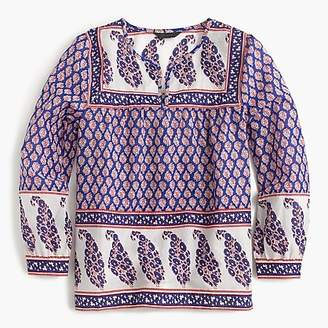 J.Crew Mixed paisley top