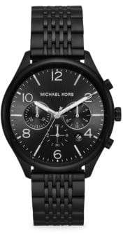 Michael Kors Merrick Chronograph Black IP Stainless Steel Watch