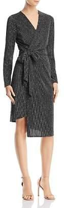 Sam Edelman Metallic Faux-Wrap Dress
